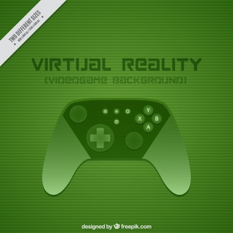 Green background with a game controller