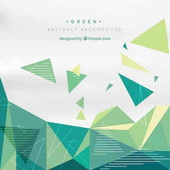 Green background with geometric shapes