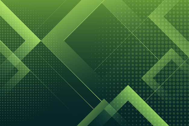 하프 톤 효과와 사각형 녹색 배경