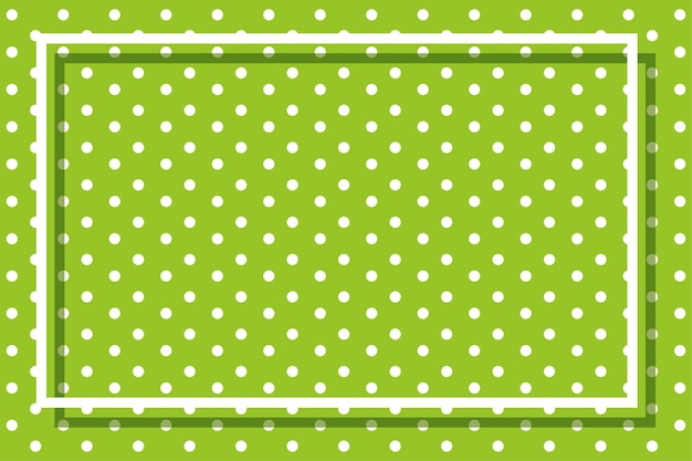 Green background with polkadots and frame