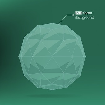 Green background with a polygonal sphere