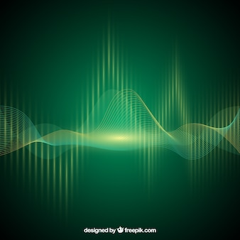 Green background with sound wave