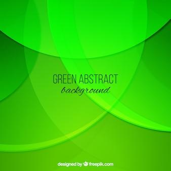 Sfondo verde con le onde in stile astratto
