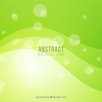 Green background with wavy shapes