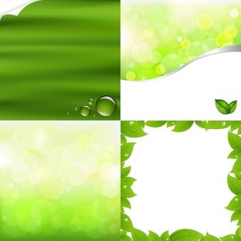 Зеленые фоны