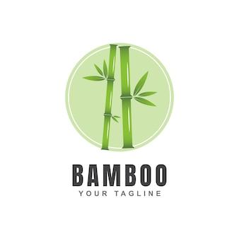 Зеленый бамбук дизайн логотипа