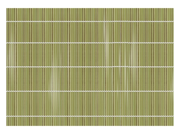 Green bamboo mat background for making sushi. top view. realistic texture makisu or curtain.
