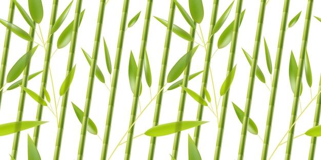 緑の竹模様の背景プリント自然イラスト