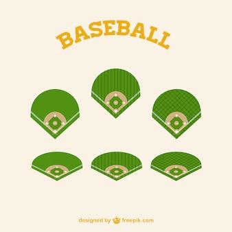 Green baseball fields parts