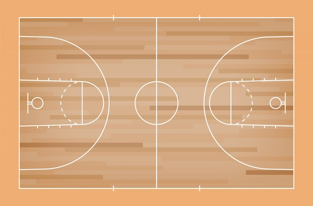 Green basketball court floor with line pattern background