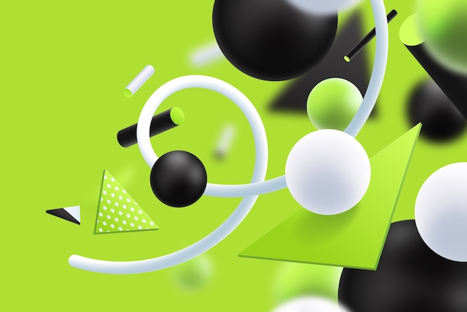 Green and black futuristic 3d background