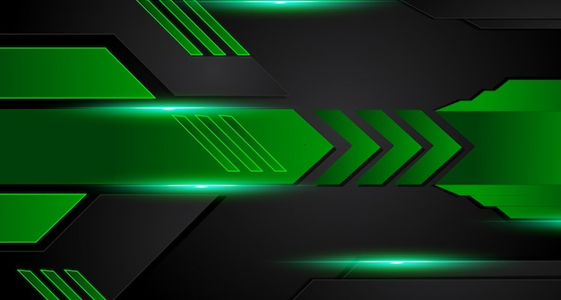Green and black geometric abstract corporate background. vector.