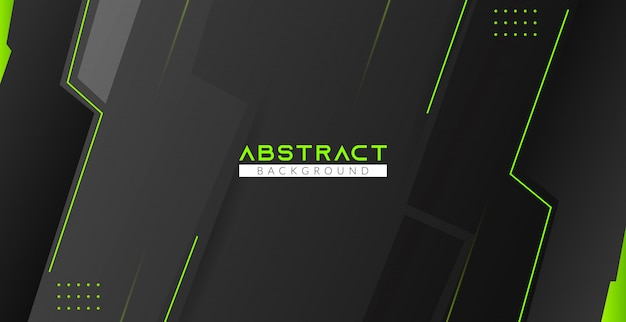 Green and black modern abstract background