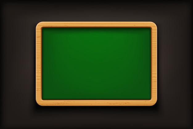 Green blackboard on black