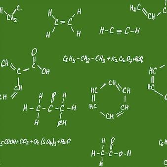 Green blackboard chemistry