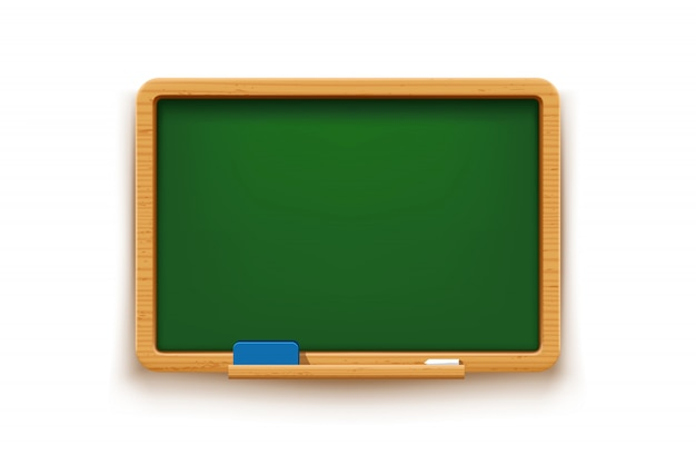 Green blackboard isolated