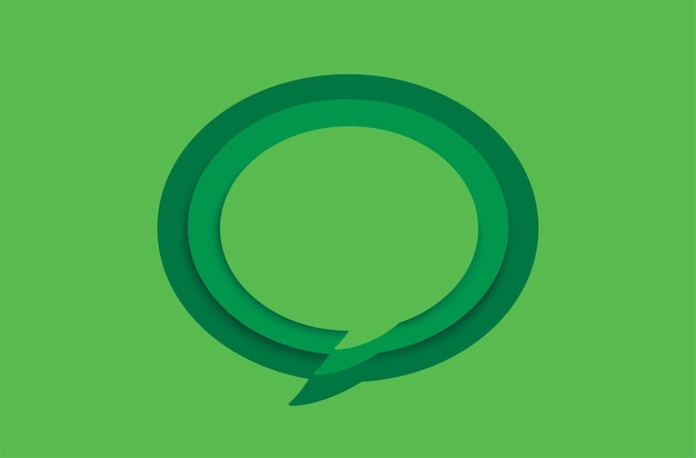 Green blank speech bubble on green