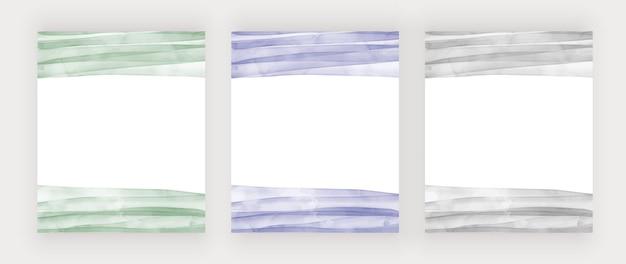 Зеленая, синяя и серая акварель текстуры