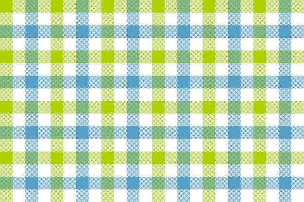 Green blue check fabric texture seamless pattern