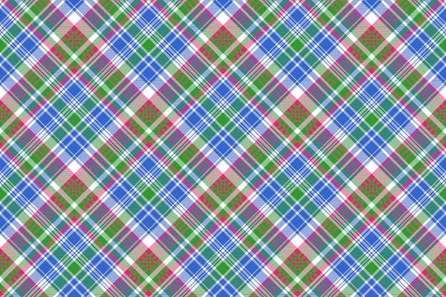 그린 블루 체크 타탄 체크 무늬 원활한 패턴
