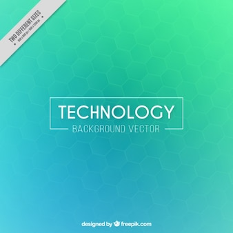 Green and blue technological background