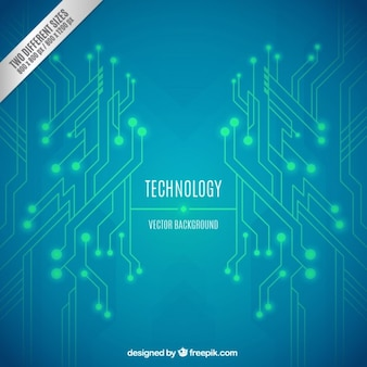 Green and blue technology background