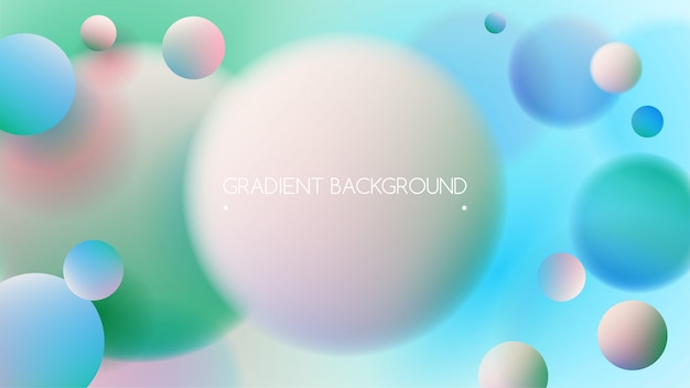 Green blue vibrant colors and gradient background