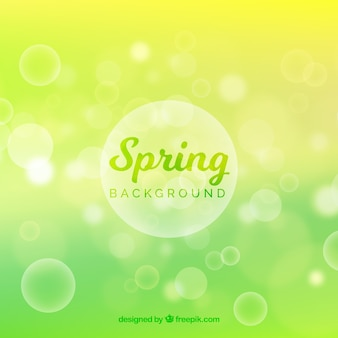 Green blurred spring background