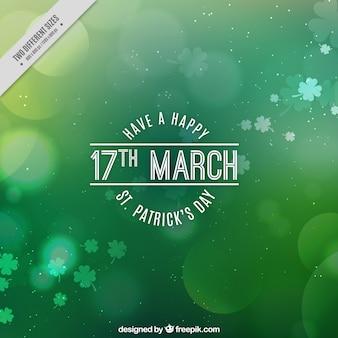 Зеленый боке день святого патрика