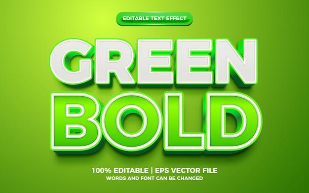 Green bold 3d editable text effect
