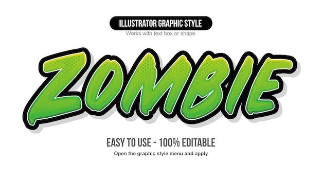 Green bold brush script text effect