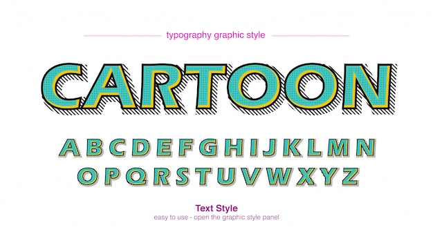 Green bold stroke мультипликационный комикс типография