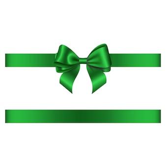 緑の弓とリボン