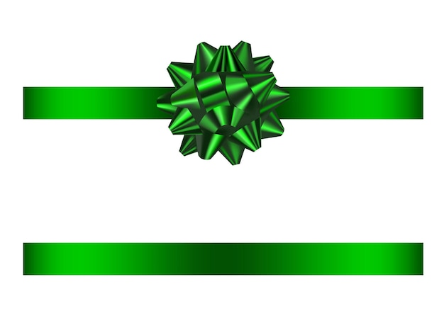 Зеленый бант и лента