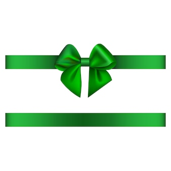Green bow and ribbon