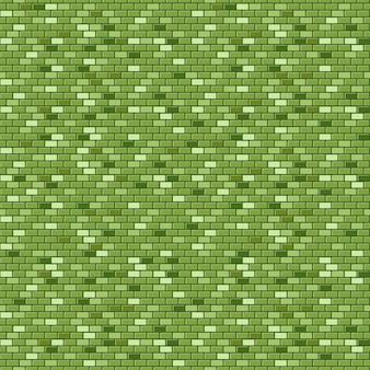 緑のレンガの壁のシームレスなパターン