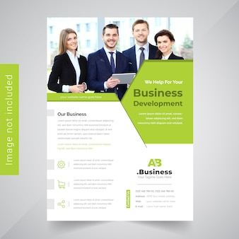 Green Brochure Design Leaflet Template