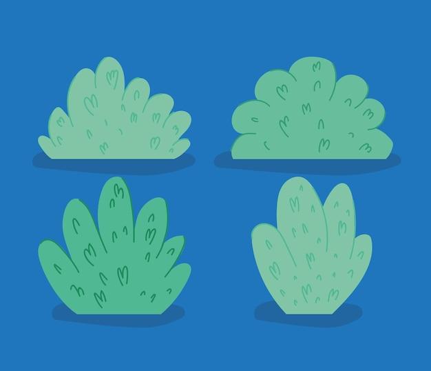 Группа зеленых кустов