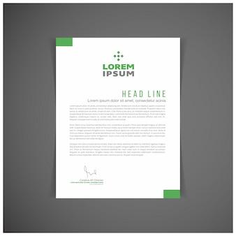 Green business letterhead