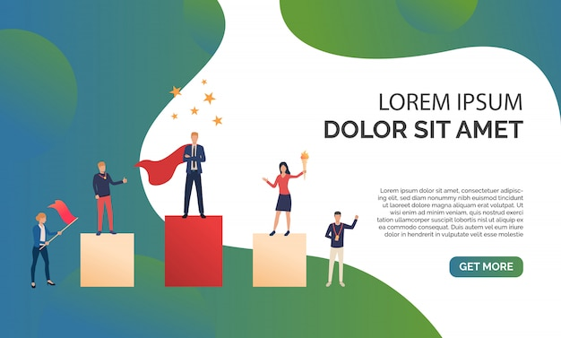 Green business presentation illustration