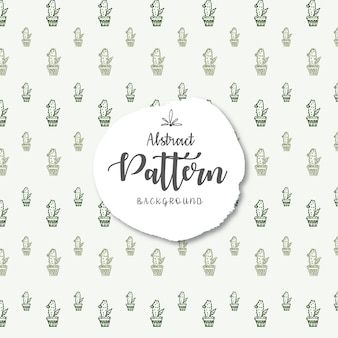 Green cactus vector seamless pattern background