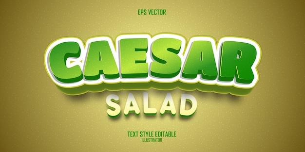 Green caesar salad 3d text style effect