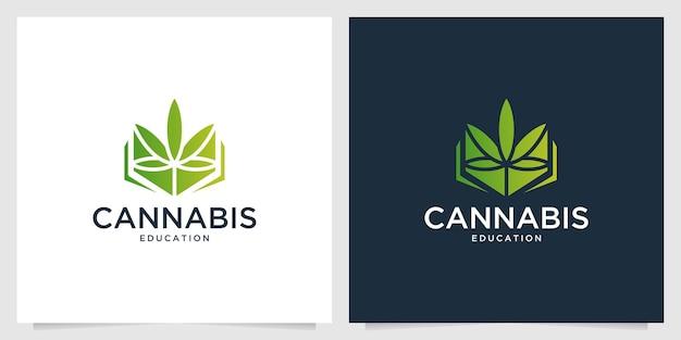 緑の大麻のモダンなロゴデザイン