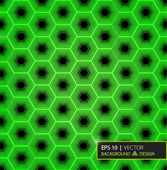 Green carbon fiber hexagon pattern. background and texture.