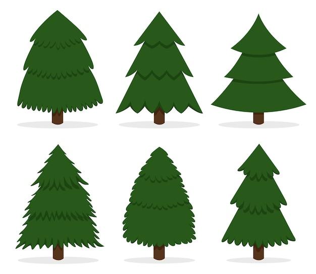 緑の漫画のクリスマスツリー