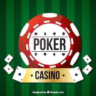Green casino and poker background