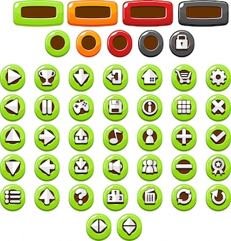 Green casual buttons