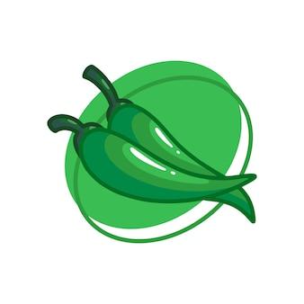 Зеленые овощи чили рисунок иллюстрации дизайн