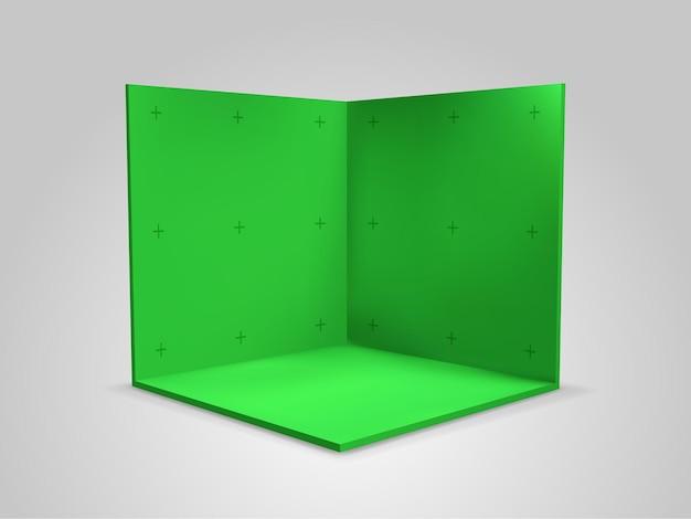 Зеленый фон экрана с цветными клавишами с маркерами отслеживания
