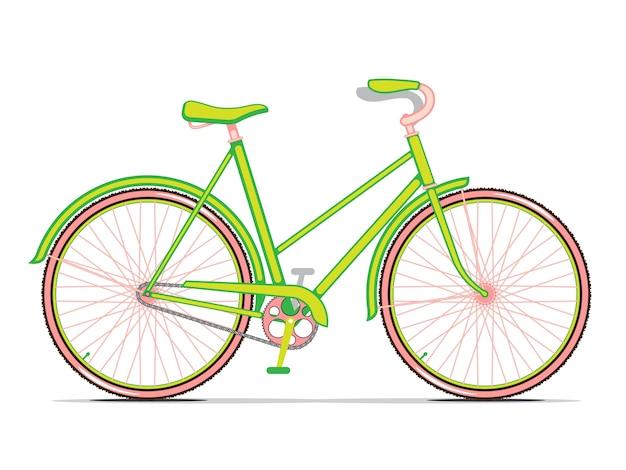 Зеленый городской велосипед